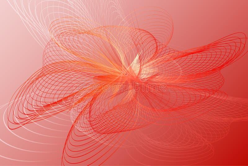 Modieuze abstracte rode futuristische achtergrond vector illustratie