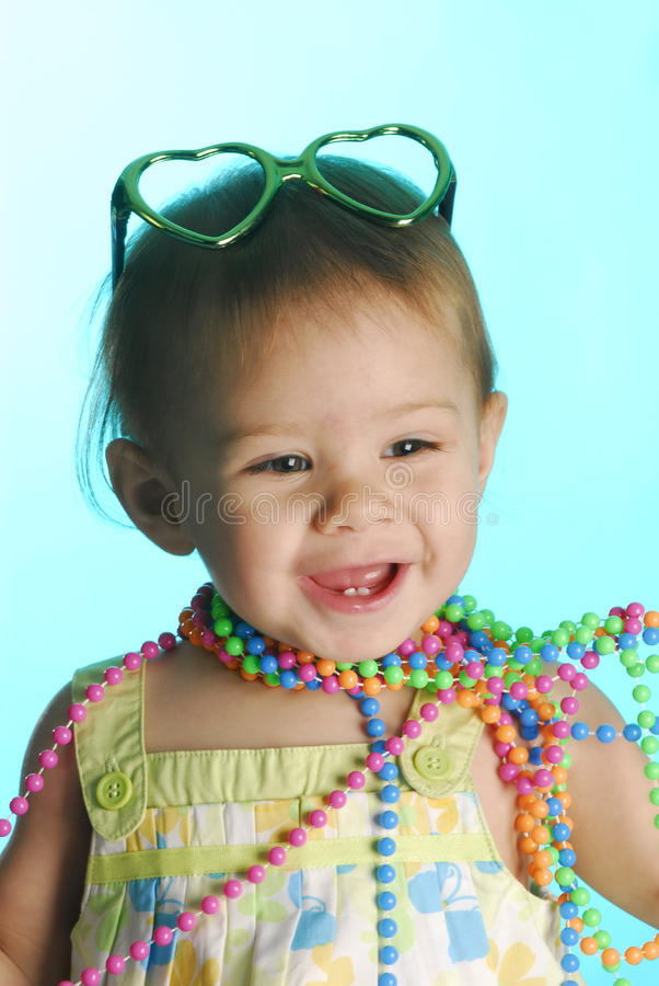 Modieuze baby royalty-vrije stock foto's