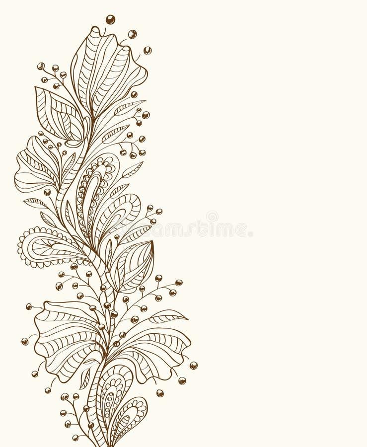 Modieuze Bloemenachtergrond Royalty-vrije Stock Fotografie