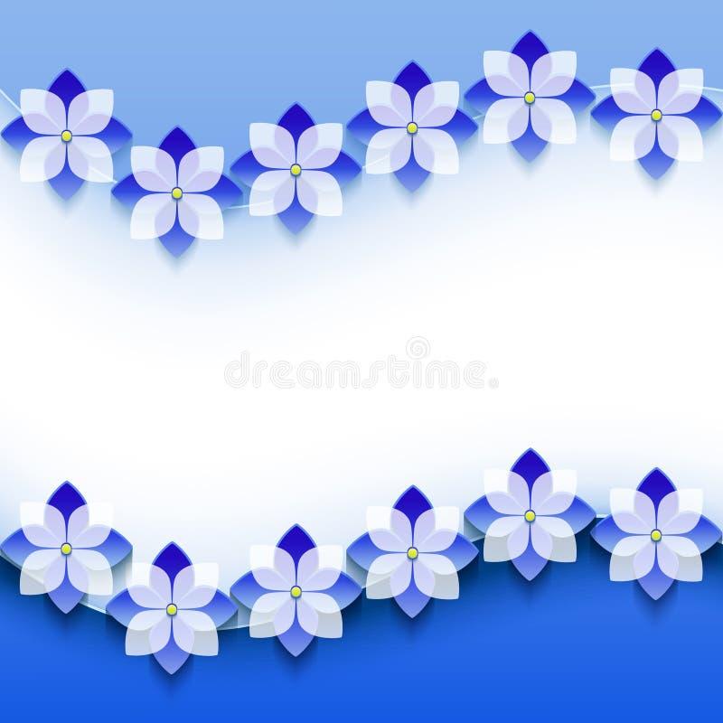 Modieuze bloemenachtergrond, 3d bloem van de groetkaart royalty-vrije illustratie