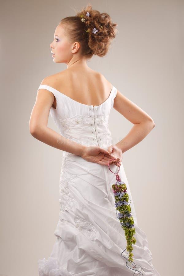 Modieuze bruid royalty-vrije stock foto's