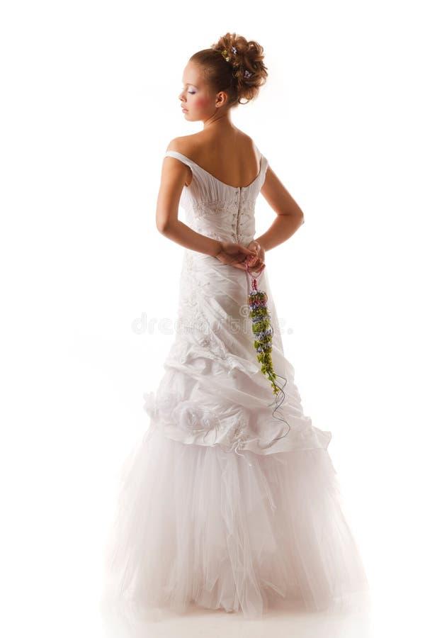 Modieuze bruid royalty-vrije stock afbeeldingen