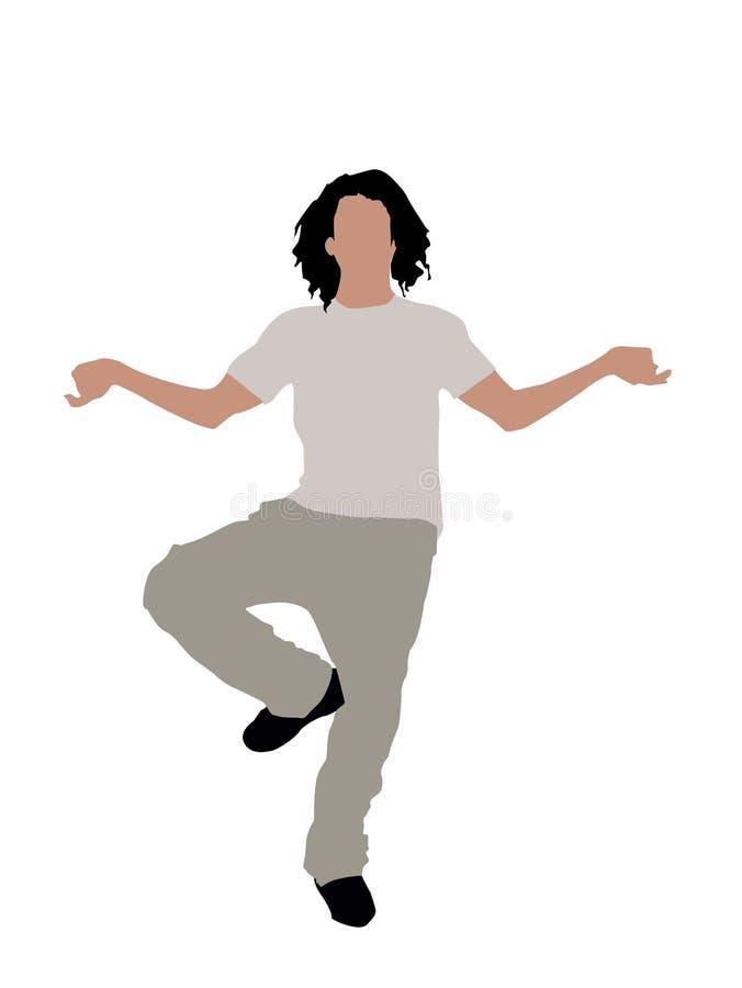 Modieuze danser stock illustratie