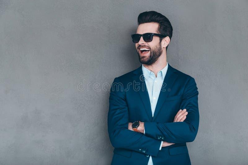 Modieuze glimlach stock afbeeldingen
