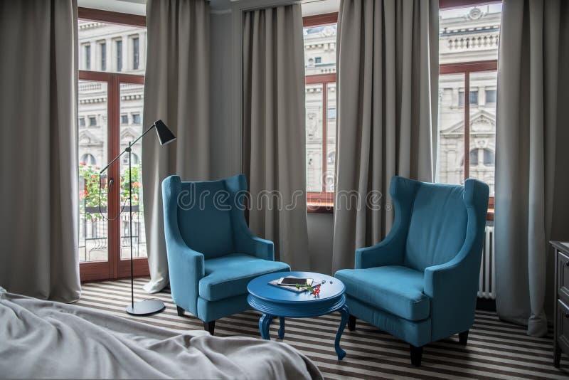 Modieuze hotelruimte royalty-vrije stock foto's