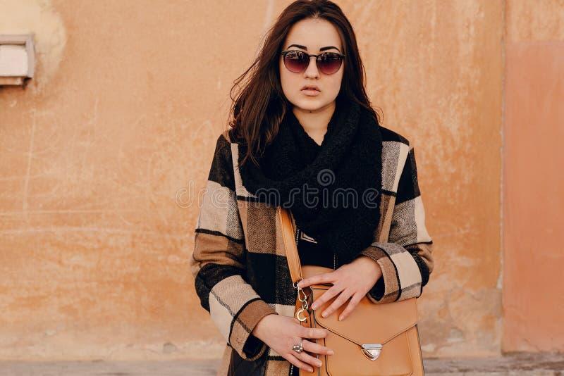 Modieuze jonge vrouw stock afbeelding