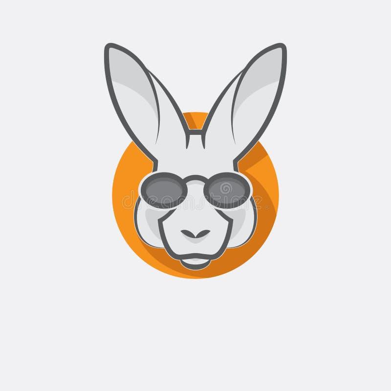 Modieuze kangoeroe met glazen royalty-vrije stock afbeelding
