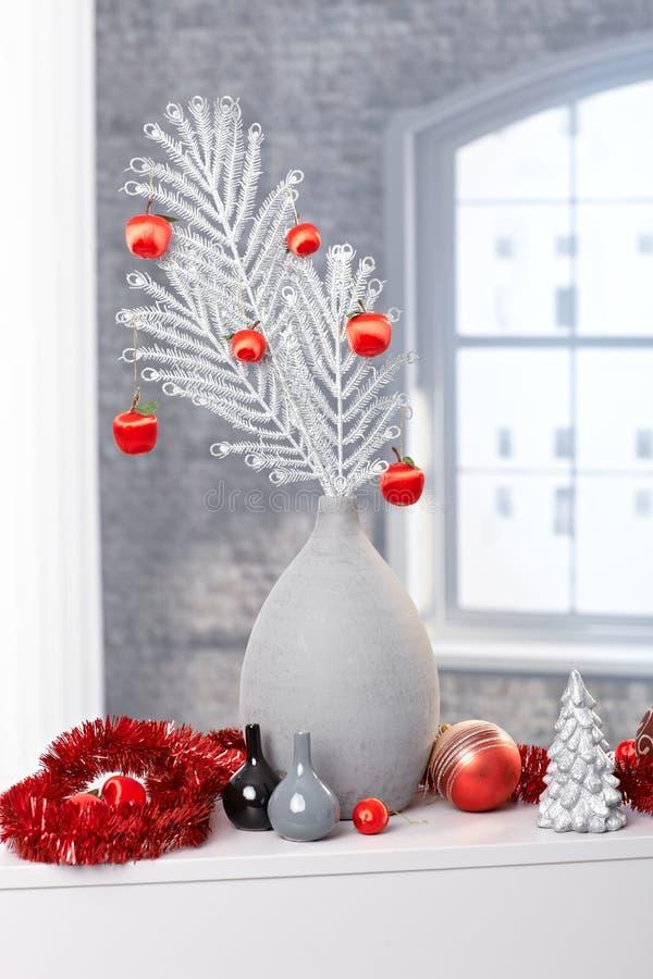 Modieuze Kerstmisdecoratie royalty-vrije stock afbeeldingen