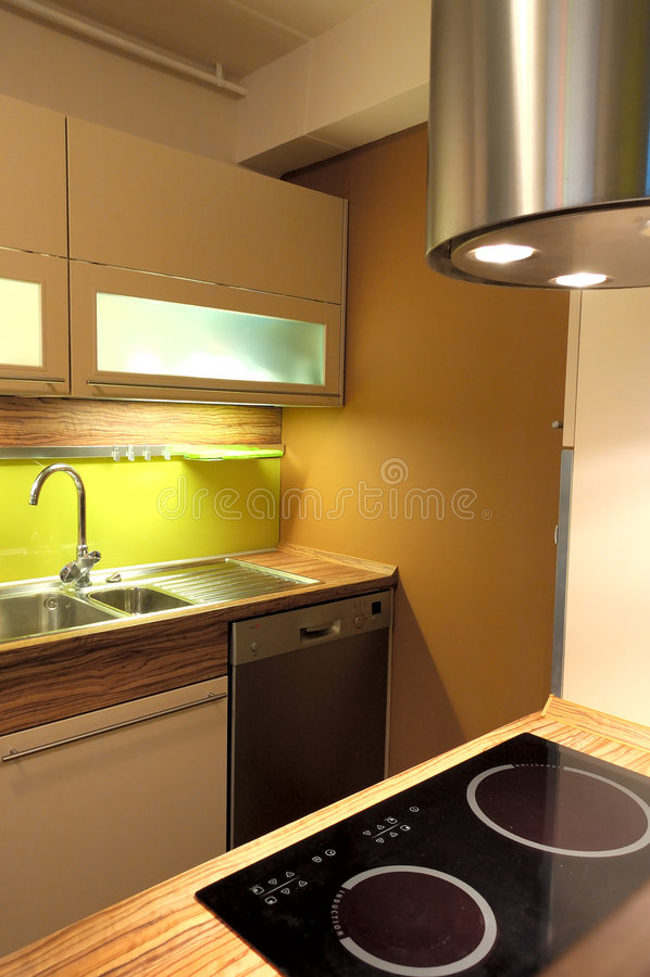 Modieuze keuken royalty-vrije stock afbeelding