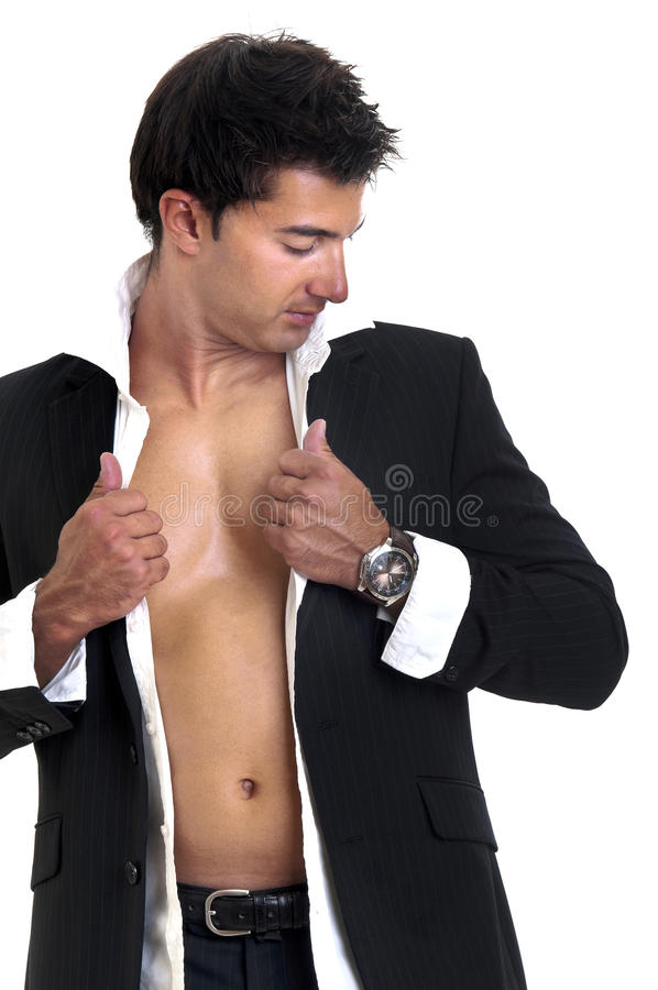 Modieuze mens stock foto
