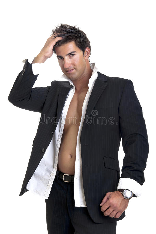 Modieuze mens stock foto's