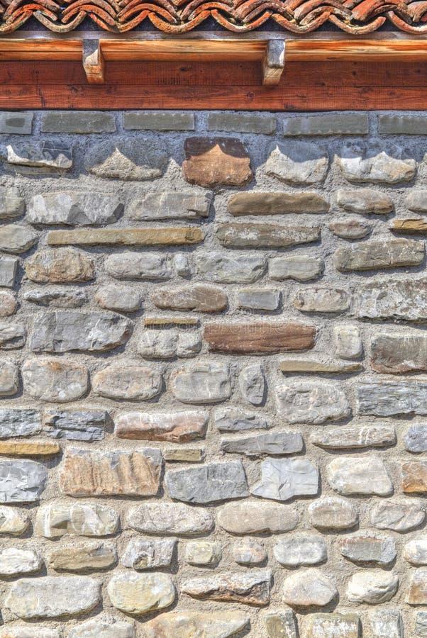 Modieuze muurachtergrond met houten stralen royalty-vrije stock foto's