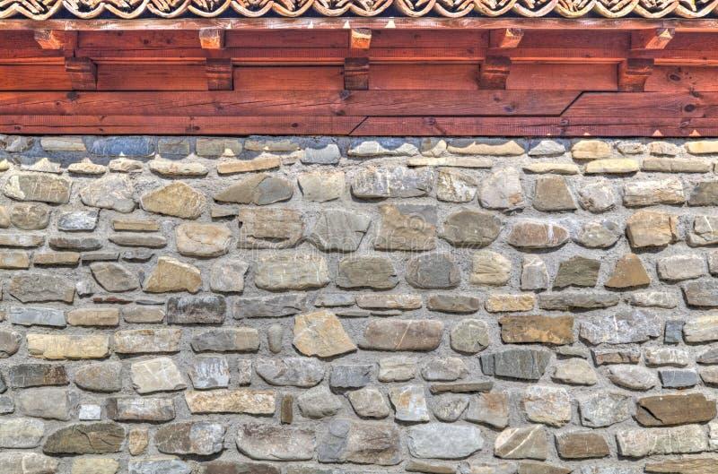 Modieuze muurachtergrond met houten stralen stock fotografie