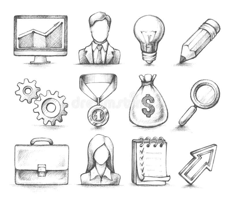 Modieuze ontwerpelementen, Bedrijfspictogrammen vector illustratie