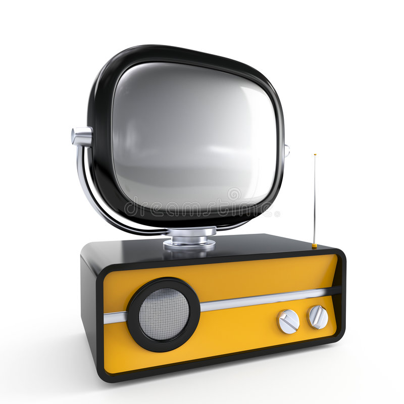 Modieuze retro TV stock illustratie