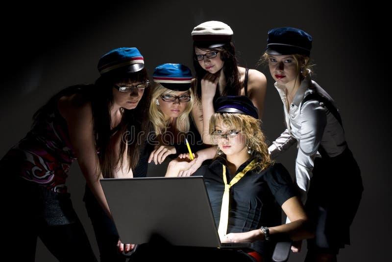 Modieuze studenten royalty-vrije stock afbeelding
