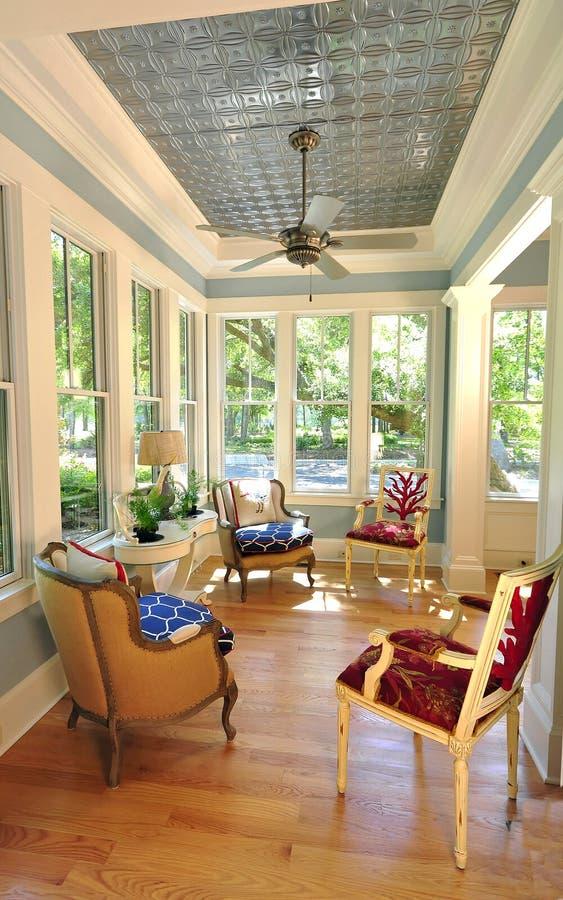 Modieuze Sunroom royalty-vrije stock foto's