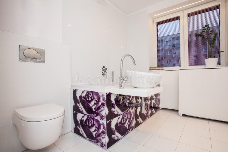 Modieuze vlakte - Moderne badkamers stock afbeeldingen