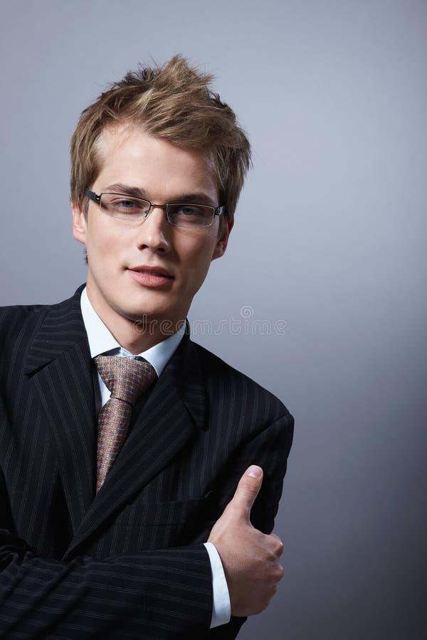 Modieuze zakenman stock afbeeldingen