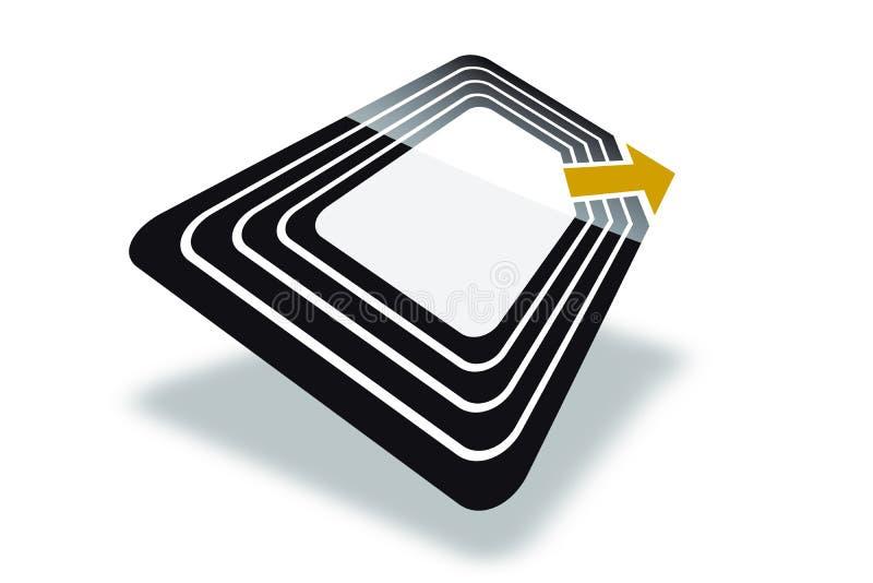 Modifica di RFID royalty illustrazione gratis