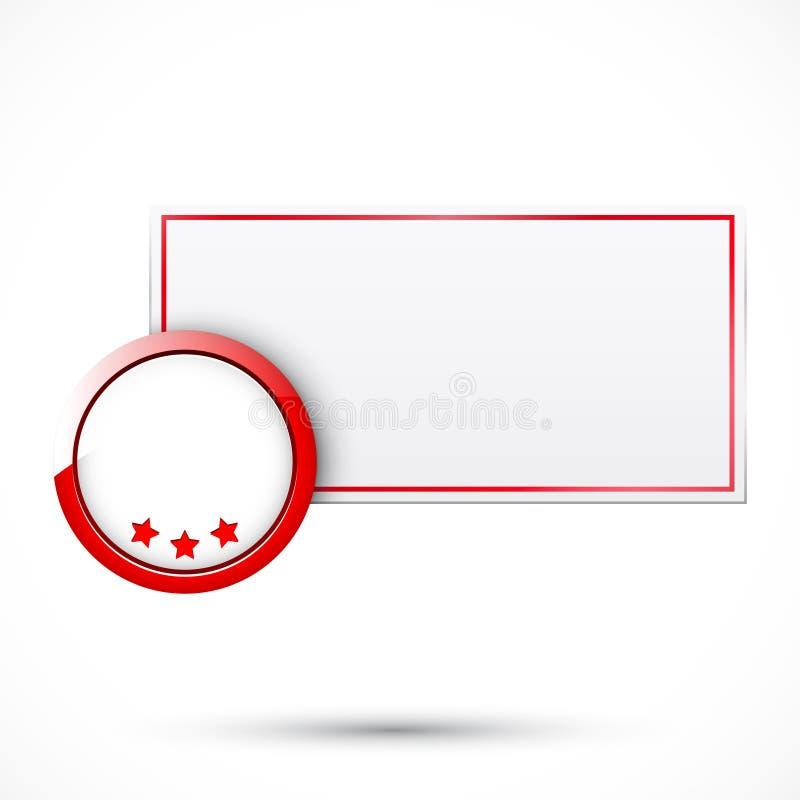 Modifica di vendita con l'elemento del cerchio illustrazione vettoriale