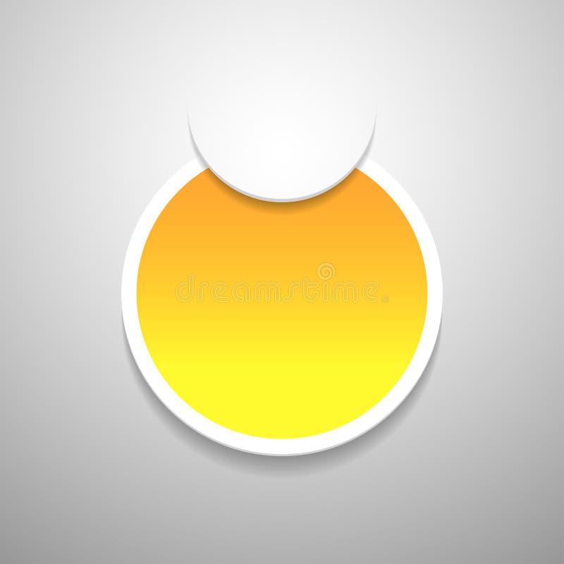 Modifica gialla su priorità bassa grigia. royalty illustrazione gratis