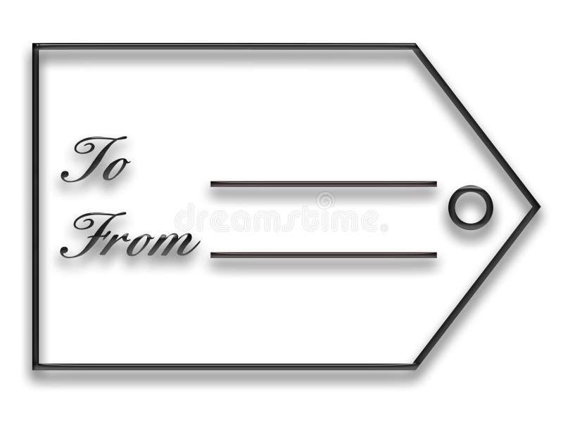 Modifica nera del regalo illustrazione vettoriale