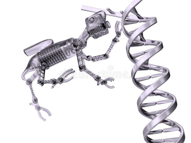 Modification génétique illustration de vecteur