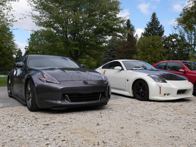 Modification Nissan sports cars rally furious fast. These furious and fast sports cars are highly modified for high performance. They are Nissan rally cars in royalty free stock photos