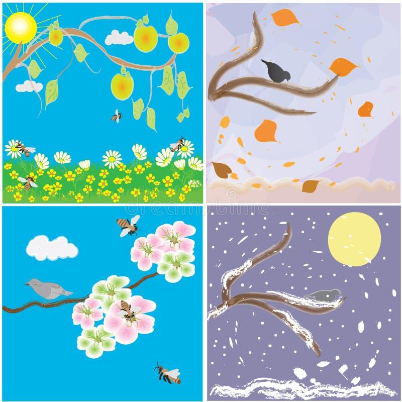 Modification saisonnière d'an illustration stock