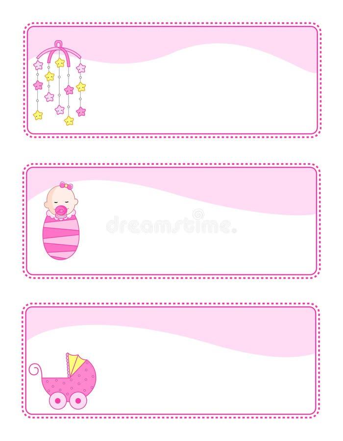Modifiche/bandiere del bambino royalty illustrazione gratis
