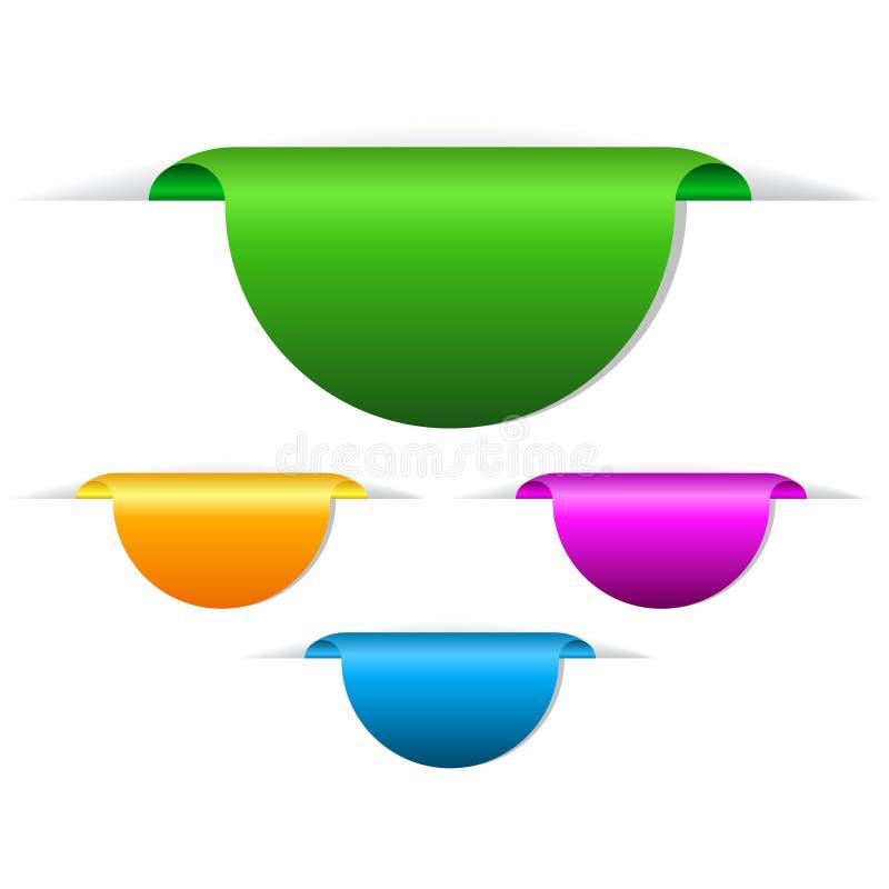Modifiche in bianco illustrazione di stock