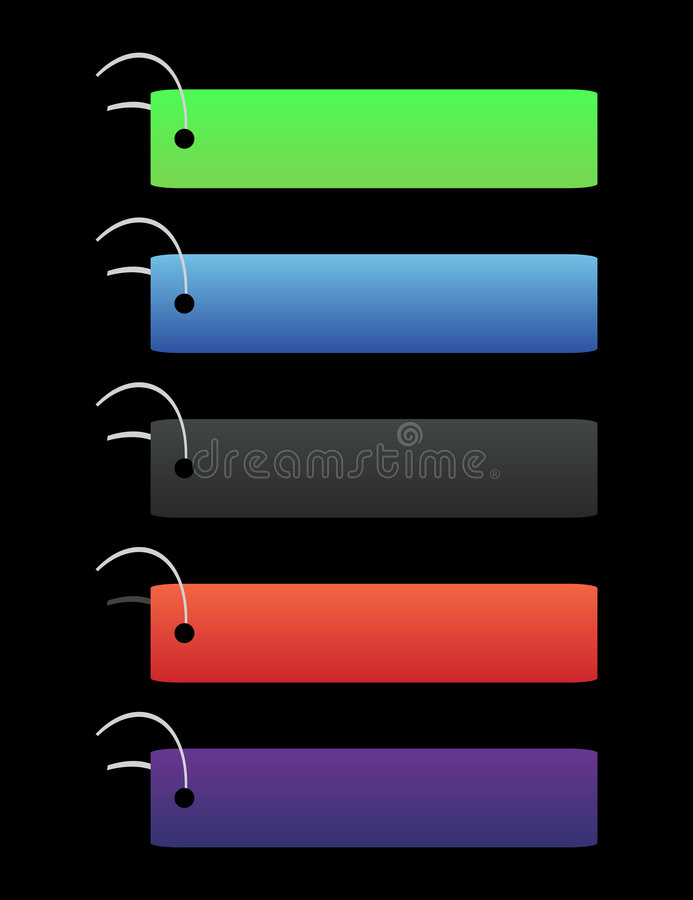 Modifiche colorate - sul nero royalty illustrazione gratis