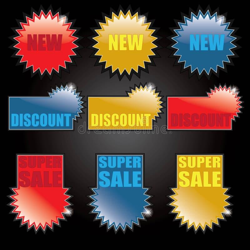 Modifiche d'acquisto - contrassegni royalty illustrazione gratis