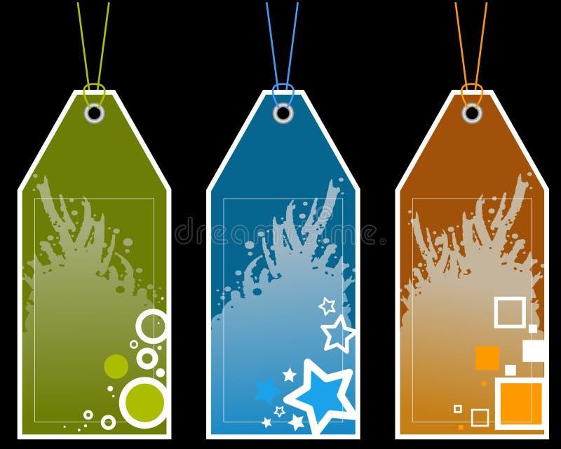Modifiche di carta con i reticoli illustrazione di stock