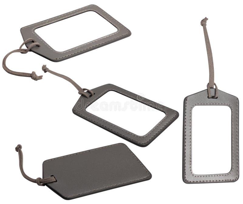 Modifiche di cuoio dei bagagli fotografia stock libera da diritti