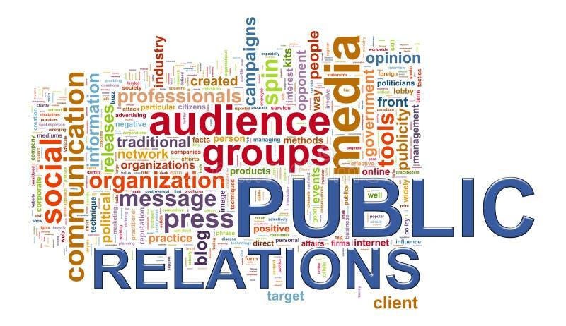 Modifiche di parola di pubbliche relazioni illustrazione di stock