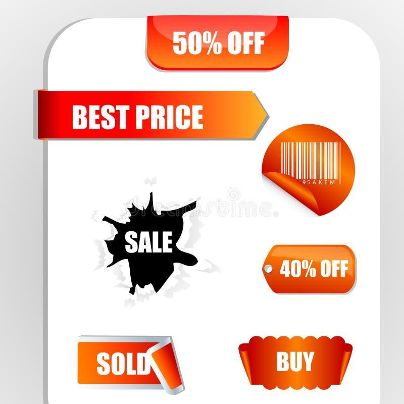 Modifiche di sconto e di vendita royalty illustrazione gratis