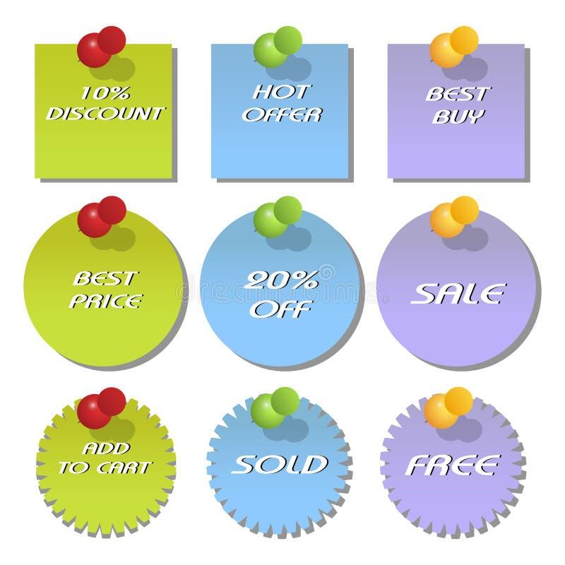 Modifiche di sconto e di vendita illustrazione di stock