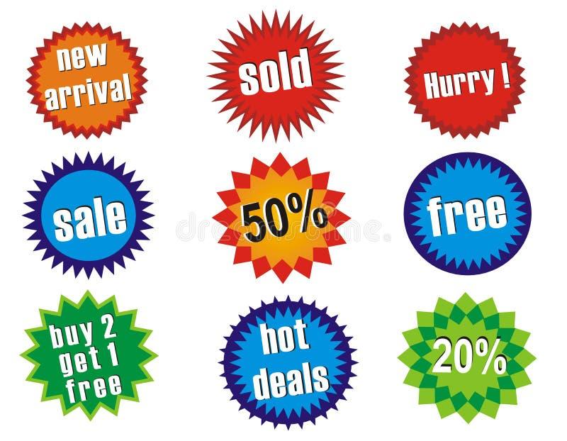 Modifiche lucide di vendita illustrazione vettoriale