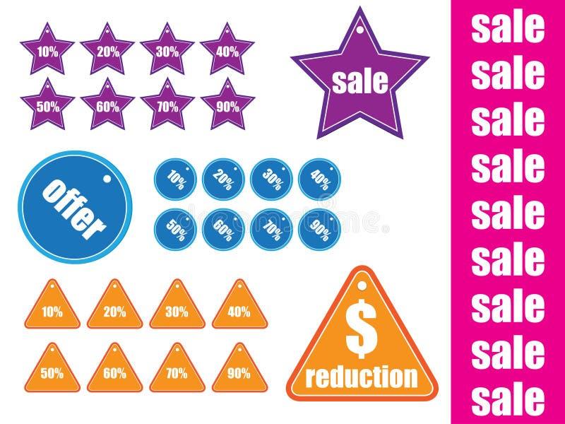 Modifiche lucide di vendita con vario   royalty illustrazione gratis