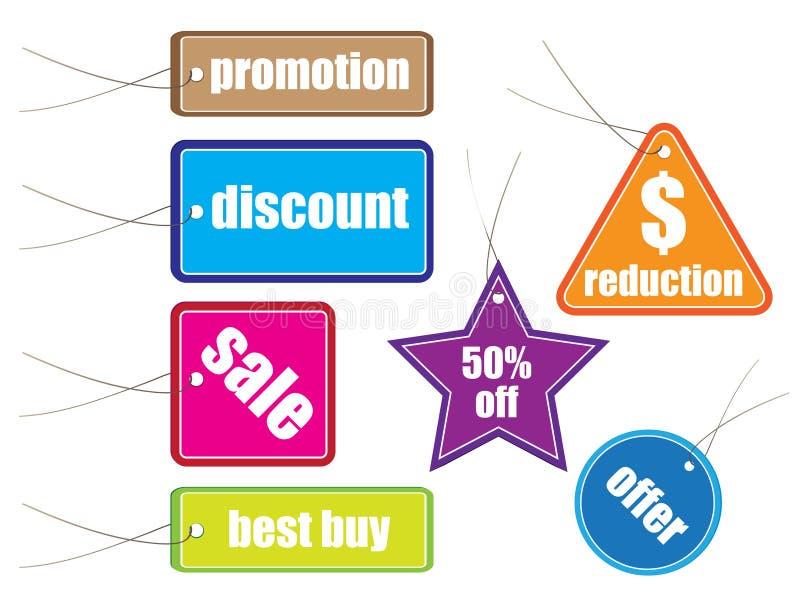 Modifiche lucide di vendita con vario   illustrazione di stock