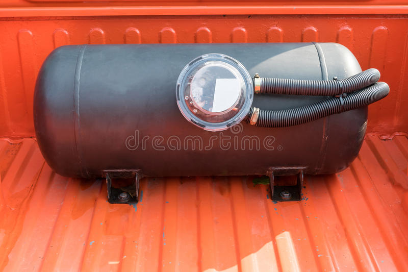 Modified car of energy gas natural vehicle used. For car stock image