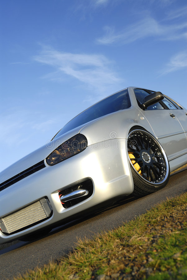 Modified Performance car royalty free stock photo