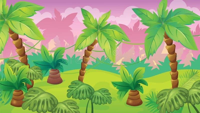 Modig bakgrund för djungel royaltyfri illustrationer