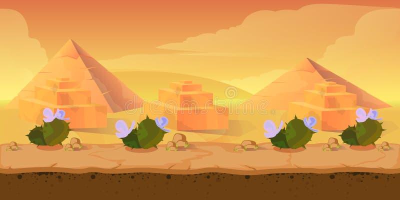 Modig bakgrund för pyramid stock illustrationer