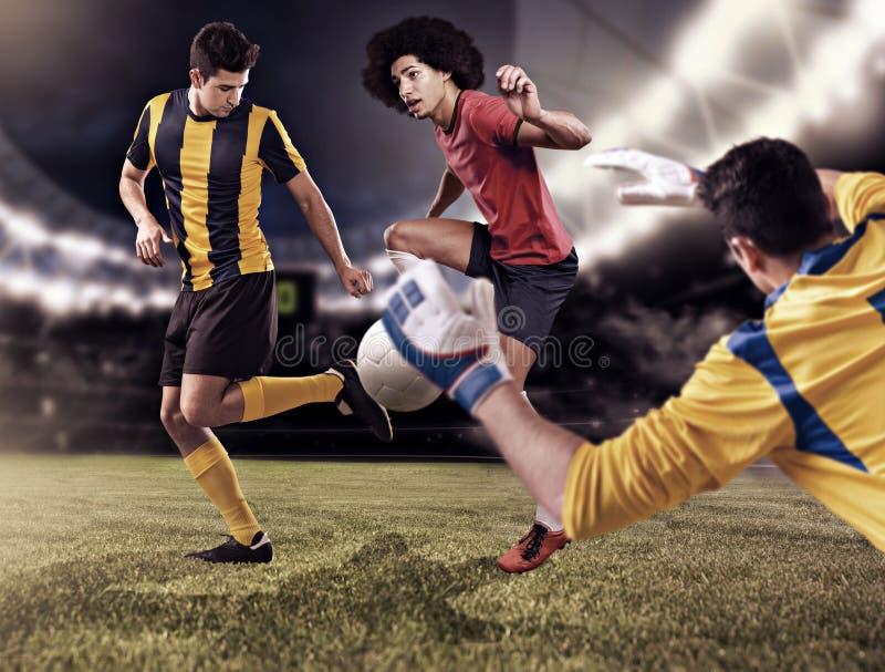modig fotboll arkivbild