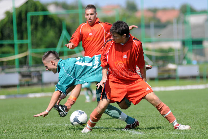 modig fotboll u19 royaltyfri bild