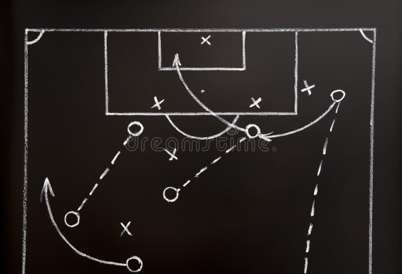 modig fotbollstrategi royaltyfri fotografi