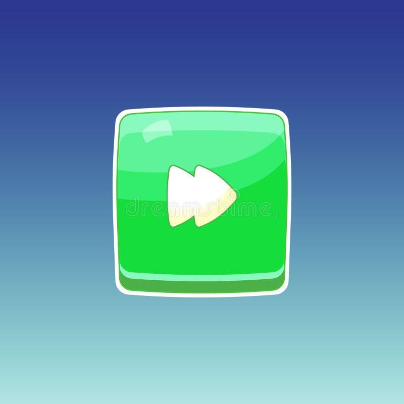 Modig grön knapp royaltyfri illustrationer